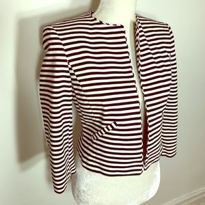 Isaac Mizrahi Black & White Striped Jacket
